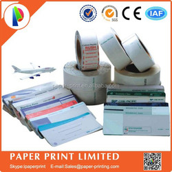 Airline luggage tag comply with US standards Self Adhesive Labels Dricet print Airline Baggage Tags Printing&baggage tags