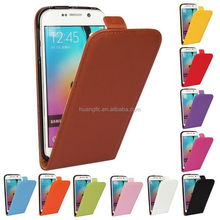 Low MOQ Cowhide leather real leather case for samsung galaxy s6 edge best service