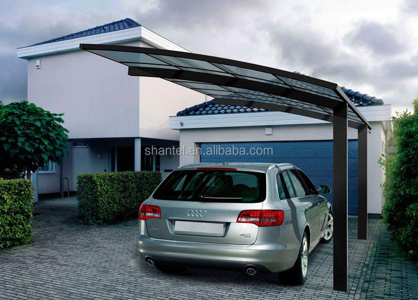 Abris de parking moderne design en aluminium enduit de for Abri auto double costco