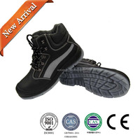 2015 new Steel Toe leather Work & Safety Boots Black men's size hot
