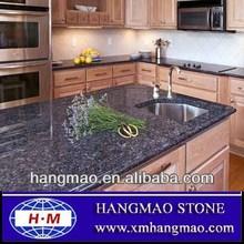 betiful azul piedra encimera de la cocina