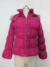 Ladies' colorful winter padding jackets lovely bubble fitting OEM wholesale