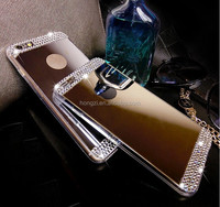 Diamond Crystal rhinestone Mirror TPU Soft Gel Case Cover Skin For Apple iPhone 5 5s 6 4.7'' 6 plus 5.5'' inch