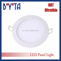 Zhongshan guzhen Office Flat Wall ceiling Ultra thin Slim Wholesale SMD2835 3w 6w 9w 12w 15w 18w Round recessed Led Panel Light
