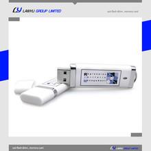 custom 4gb usb flash drive white color