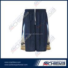 Custom fashion basketball jersey and shorts designs China reversible basketball fitness loose short