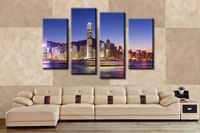 4 panel Beautiful City Large HD Picture Modern Home Wall Decor Canvas Print Painting For House Decorate Without Frame