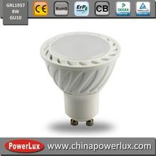 New ce light Hot SMD 8w GU10 Aluminium plastic led spotlight lamp