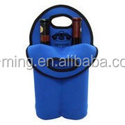 Best best selling New Design Fashion High Quality Promotional insulated leather wine bag carrier
