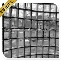 solid clear glass brick, decorative glass block