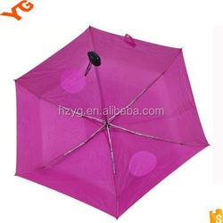 21'' fashion 8 fiberglass&aluminium ribs three folding rain umbrella mannual open close