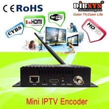 Single channel CVBS/HDMI to IP RTMP encoder IPTV for wowza server