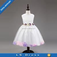 boutique clothing flower girl wear white color birthday party dresses