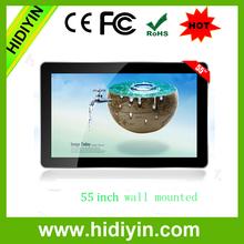 55 inch Ultra Thin Wall Mounted LCD Screen Digital Signage HD 1080P
