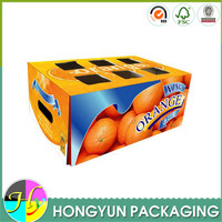 Customized printing flat pack box for mango/fruit