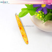 BTZ0274A 2014 Fashion Round Pattern Small Eyebrow Tweezers