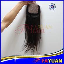 Top quality hidden knots natural scalp free parted silk base closure malaysian