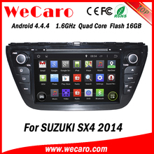 """Wecaro WC-SU8073 8"""" Android 4.4.4 WIFI 3G touch screen car dvd player navigation system for suzuki sx4 car stereo 2014"""