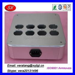 Custom soket daya filter aluminium chassis aluminum,mini amplifier chassis,machining aluminum box