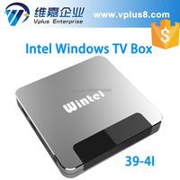 Vplus W8II 2015 latest Wintel W8II window tv box quad core Atom Z3735F bluetooth wifi 2G/32G