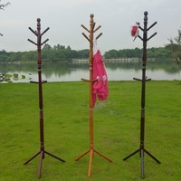 Home Furniture-Colorful wooden Standing Coat Rack
