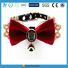 Luxury Velvet puppy dog design collar necklace pet bow tie