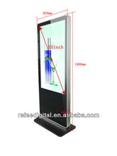 Factory price! With wifi, 3G,RJ45, 1080p full HD 55 inch floor stand ad player