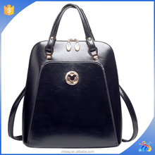 High end pu backpack for lady, women college backpacks wholesale,leather backpack factory