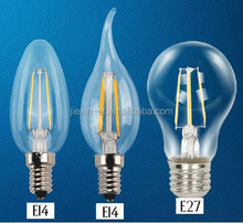 360 degree mini driver 1.8W E14 led filament bulb dimmable