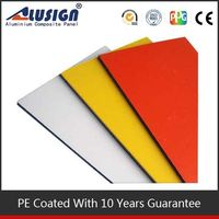 Alusign environmental decorative materials high quality acm plastic sheets for outdoor sign