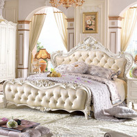 queen bedroom furniture set antique furniture bed room furniture China factory direct wholesale