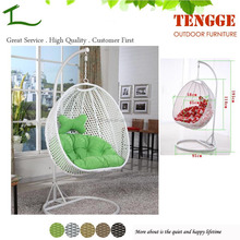 TG15-0047 Outdoor and indoor plastic rattan two seat swing chair