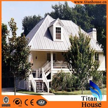 Two Storeys China Supplier Luxury Modern Design Cheap Steel Structure Prefabricated Beach Houses for Romania