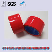 Bopp Acrylic Red 48mm 60Y Adhesive Color Tape for Carton Packing