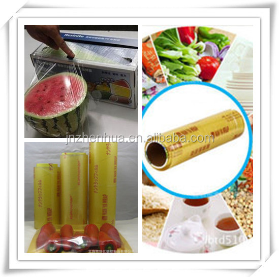 hot sell pvc cling film food packaging film ,pvc food film ,plastic film stretch film type clear cling wrap