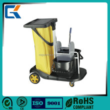 Multifunction high quality hotel guestroom cleaning trolley Janitor Cart