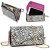 Leather Wallet Case & Crossbody Shoulder Bag Mobile Phone Carry Bag