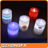 Wholesale Manufacturer Candle Making Brands Promotional Led Candles with Logo Printing