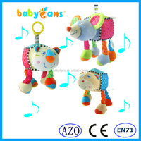 lovely Mouse Plush Toys Stuffed Musical Hanging Baby toy baby products Factory toys