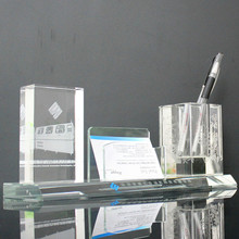 wholesale crystal glass office stationery set