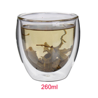 2015 High Quality Bodum 1pcs 260ml Wholesale Europe Style Double Wall Glass Coffee Cup Mug Tea Cup Glassware