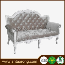 Luxurious solid wood frame sofa design with carve
