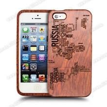 2015 Laser Engraved Custom Pattern Wooden Case For Iphone 5