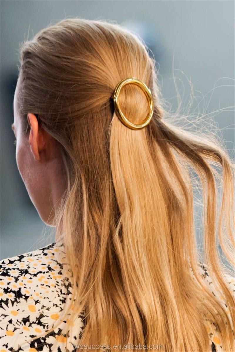 circle gold metal hair pins hair clips.jpg