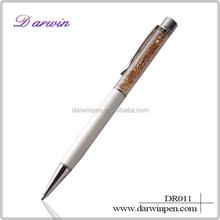 Metal crystal pen/crystalline ballpoint pen/crystal writing pen