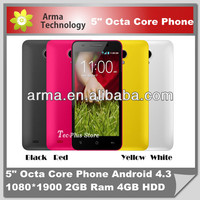 Newest MP-809T 5Inch Android 4.4 Octa Core MT6592 Cell Phone/MT6592 Dual Sim Phone