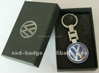 Custom Metal Car Logo KeyChain with gift box