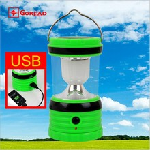 Goread GY30 rechargeable camping lantern AA battery USB power bank High bright soft lens solar led lantern