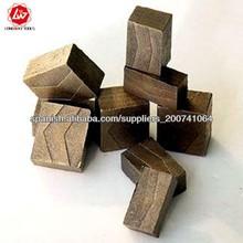 108 segmentos del diamante / segmentos del emparedado para el corte de granito, piedra arenisca, piedra caliza (finales 1600 mm