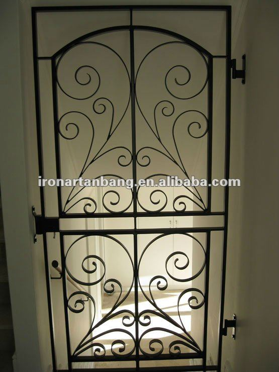 Ornamental indoor wrought iron gate design g 0070 buy for Indoor gate design